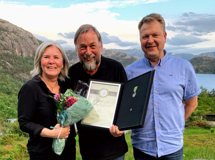 Leiv K. Haga får Norges Vels medalje